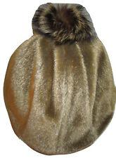 """Vintage Fur Fashion Beanie Women's Hat XL 24"""" around 7 3/4"""