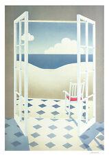 Schlichtholz Fenster Poster Kunstdruck Bild 61x44cm - Kostenloser Versand