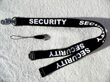 Security Black/White Neck Lanyard & Strong Metal Clip For ID Card/Badge Holder