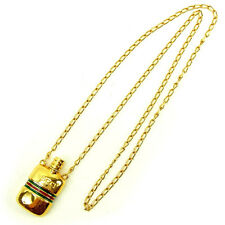 Gucci Necklace Pendant Sherry Line Gold Woman unisex Authentic Used Y5543
