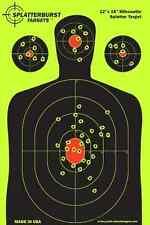 Silhouette Splatter Target 50 Pack Shooting Body Hunting Sport Practice Training