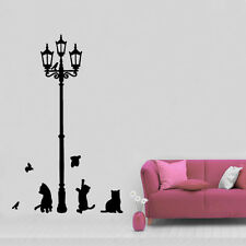 cat animal pet lamp birds Kids Quote Wall Stickers Art Room Removable Decals DIY
