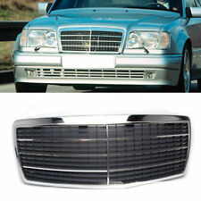 Chrome + Black Front Grille for Mercedes Benz W210 E-Class 1995-1998 Facelift