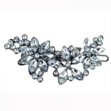 Holder Crystal Rhinestone Comb Hair Clip Flower Hairpin