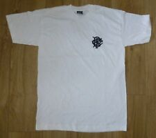 BARBARIANS Rugby-Player Issued-NEW UNWORN-Cotton Tee Shirt-Embroidered-WHITE MED