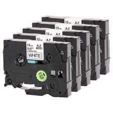 5 X Compatible Brother TZE-231 noir sur blanc 12 mm x 8 m Étiquette Bandes Pour P-Touch