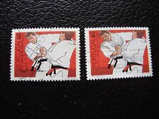 PORTUGAL - timbre yvert et tellier n° 1742 x2 obl (A28) stamp (E)