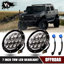 """Hummer H1 H2 DOT 7"""" Inch Round LED Headlight Halo Projector DRL Hi/Lo Beam"""