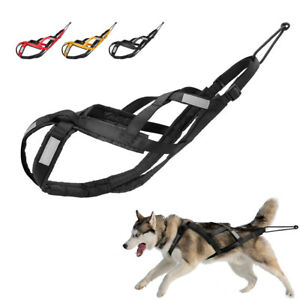 Reflective Dog Weight Pulling Sledding Harness Pet X-Back Training Vest Large