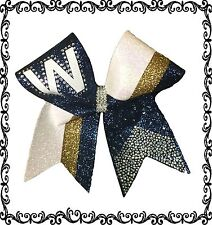 Customized Letter Rhinestone Cheer Bow