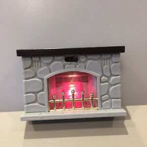 Maple Town Sylvanian Families Light up Fireplace Fire SO CUTE!