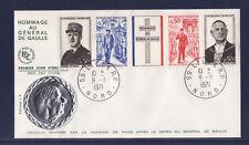 enveloppe 1er jour  bande général de Gaulle  Lille  Nord    1971