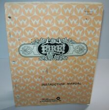 Fire Pinball Machine Original Manual Williams 1987 Game With Schematics Inside