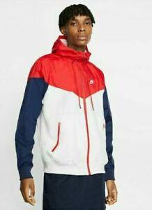 Men's Nike Classic Windrunner F/Z Jacket USA AR2191-104 Navy/White/Red Size 3XL