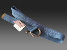 "New Authentic Ladies Vintage BURBERRY Cotton Cargo Canvas Belt BNWT to 36"" Blue"