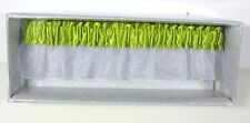 NEW Lime Green Satin & Chiffon Prom or Wedding Garter Date Charm Optional