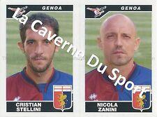 N°560 STELLINI - ZANINI # ITALIA GENOA.CFC STICKER PANINI CALCIATORI 2005