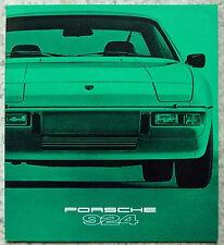 PORSCHE 924 auto LF SALES BROCHURE & DATI TECNICI 1979 TESTO INGLESE