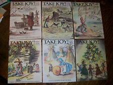 RARE Tasha Tudor Take Joy magazines Vol 1 Numbers 1 thru 6
