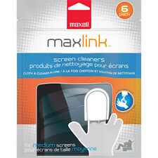 Maxell All-in-one Screen Cloth & Cleaner for tablets cell phones laptops 6-Pack