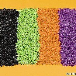 400 Halloween Pony Beads Craft Purple Black Orange Lime