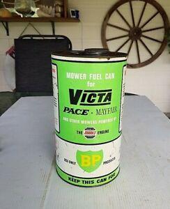 BP Victa Pace Mayfair Mower Fuel Tin & Cap Pints & Litres