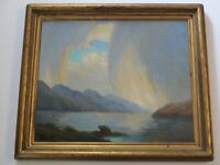 Edna Marrett Wilcocks ANTIQUE PAINTING REGIONALISM SEASCAPE IMPRESSIONIST COAST