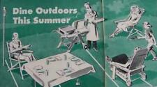 Lawn Furniture 1950 How-To build PLANS Chairs Table BBQ
