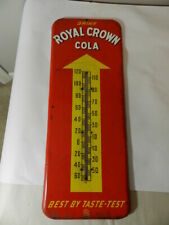 VINTAGE ADVERTISING THERMOMETER- ROYAL CROWN COLA THERMOMETER- DRIVE-IN- DINER