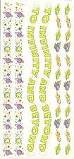 Disney Pixar Toy Story Buzz Lightyear Party Border Scrapbook Sticker Decal Sheet