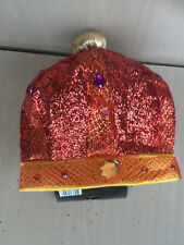 HAT CROWN GLITTER sequence gay party costume halloween King NEW pink