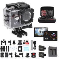 Sport 4K 16MP HD Sports Action Camera wifi Waterproof Helmet/Cam With Go pro bag