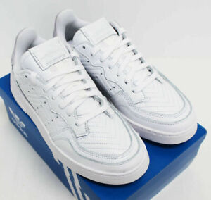 NIB ADIDAS Women's Supercourt White Leather Sz 9 Low Top Sneakers Tennis Shoes