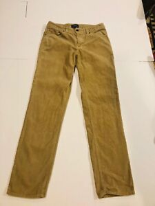 RALPH LAUREN Boy's Tan Slim Five Pocket Corduroy Pants- Size 18- Retails $55