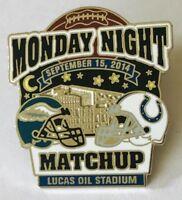 Monday Night Matchup Eagles Colts 2014 NFL Football Pin Badge Rare Vintage (C13)