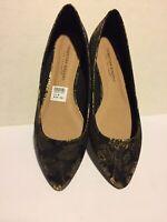 Christian Siriano Women's Gigi Black Pointed Toe Flat Shoes Size 9 Medium Multi