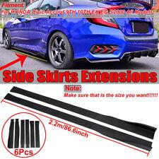 Side Skirt Extensions For Honda Civic Accord Si Type-R 10th Gen Sedan Hatchback