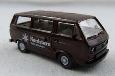"Furgoneta VW t3 ""estrella del norte seguros"" marrón Wiking 1:87 h0 sin OVP [g10]"