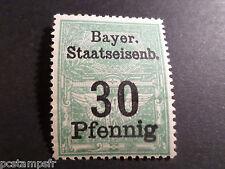 ALLEMAGNE, BAYER STAATSEISENB 30 Pfennig, neuf**, MNH GERMANY RAILWAY STAMP