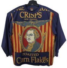 VTG Pepe Jeans London Mens XL T Shirt George Washington Crisps Corn Flakes