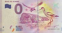 BILLET 0  EURO BAIE DE SOMME  FRANCE  2017  NUMERO 100