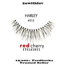 3 X RED CHERRY 100% HUMAN HAIR BLACK FALSE EYE LASHES #213 BRAND NEW
