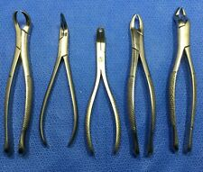 Lot of 5 diff Hu-Friedy+ Dental Tools/Instruments - Extracting Forceps      W/kp