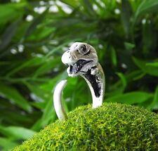 Cute Vintage Silver Adjustable Dinosaur Dino Jurassic Movie Ring Nickel Free