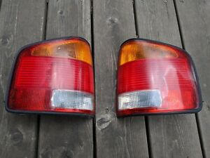 1994-05 Chevy S10 GMC Sonoma Export Tail Lights Brazil Europe Japan Amber Turns