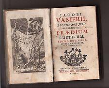 praedium rusticum - Jacobi vanierii e societate Jesu sacerdotis - M DCC L - 1750