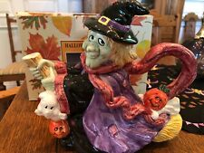 Fitz and Floyd 1995 Omnibus Halloween Witch 30oz teapot in original box