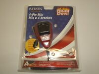 ASTATIC RD104E RED ROAD DEVIL 4PIN CB AMPLIFIED NOISE CANCEL POWER MICROPHONE