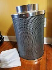 "8"" Inch Air Carbon Filter Inline Fan Scrubber Virgin Charcoal Odor Control HPS"