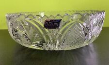 """Violetta  Hand Cut CLEAR 24% Lead Crystal Bowl...ROUND 9"""" - Made in Poland"""